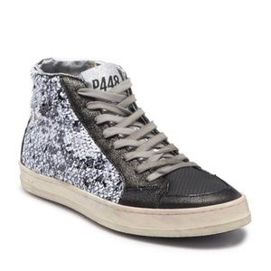 New P448 sequin skate sneaker new box size $285